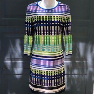Eliza J | Bold Color Striped Shift Dress